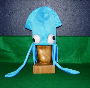 Novelty Blue Squid Octopus Hat Costume