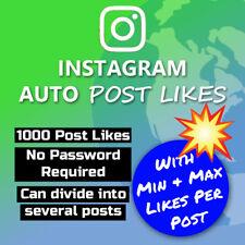 1000 x IG Auto Post Likes