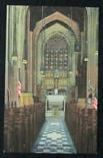 Vintage Linen Postcard Washington Memorial Chapel Interior Valley Forge PA