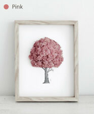 Reindeer Moss Preserved Frame for Air Purification Function Handmade Pink