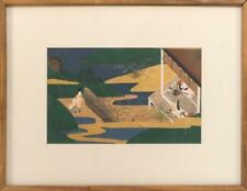 """Japanese Tosa School Painting """"Lord and Ladies under Moon by Sosatsu . Lot 275"""