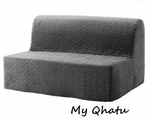 IKEA LYCKSELE Sleeper Sofa Slip Cover Vallarum Gray 703.234.12 New