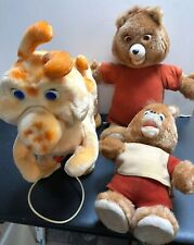 2 Vintage Teddy Ruxpin & Grubby Stuffed Figures No Sound Or Movement 1985