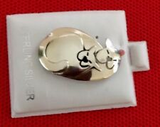 "Far Fetched Sterling Silver ""swirl cat"" Pin Excellent Spotless Condition"