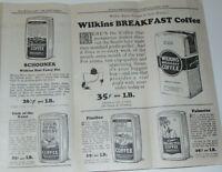 VINTAGE 1926 WHOLESALE COFFEE CATALOG/PRICE LIST BROCHURE! BULK ROASTED!