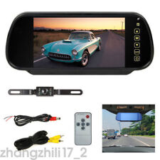 "7"" Car LCD Mirror TFT Monitor Night Vision Reversing Camera Car Rear View Kit"