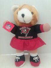 "Tampa Bay Buccaneers NFL Plush girl Bear 12"" NWT"