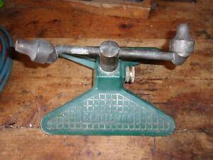 ANTIQUE WATER PUMP BRASS GREEN SPRINKLER CRAFTMAN