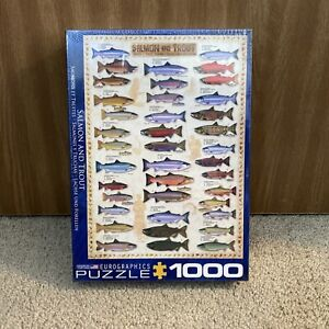 Salmon & Trout 1000-Piece Puzzle Sealed New