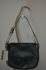 NWTS $995+ Burberry London Grainy BLACK Leaher Medium MAYDOWN Hobo Shoulder Bag
