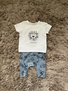 NEXT BABY BOYS 0-3 MONTHS LION TOP LEGGINGS SET, OUTFIT BUNDLE COMBINE POST
