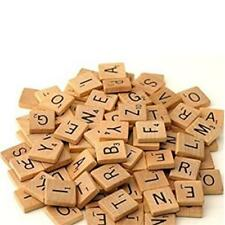 100pcs Wooden Scrabble Tiles Letters Numbers For Crafts Wood Alphabet Toy HS3