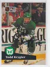 Autographed 91/92 Pro Set Todd Krygier - Whalers