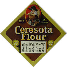 "Embossed Metal Sign ""Ceresota Flour January 1910"""