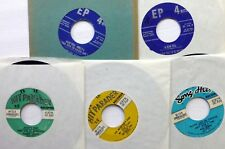 Lot of 5 x 45rpm EPs HITS SUNG BY NO NAME ARTISTS doowop 1950s pop  d1217