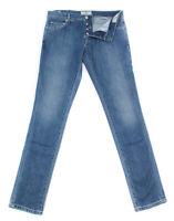 Neu Luigi Borrelli Denim Blau Jeans - Super Slim - 42/58 - (CARSS14811648)