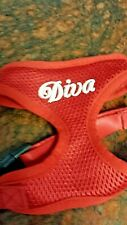 "Dog Harness ""DIVA"", red, Small adjustable, soft"