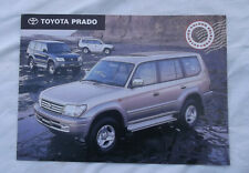 1999 Toyota Prado Exterior Colour Selector Sales Brochure Color