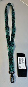 New Oakley Lanyard B1B Crazy Green Camo Neck Strap Key Ring Chain ID Holder Badg