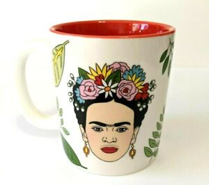 Frida Kahlo MUG Red flowers Mexican Artist The Found VG Woman gift floral leaf