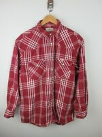 Lee Sanforized Mens Flannel Shirt Size XL Long Sleeve Button Up Regular Fit Snap