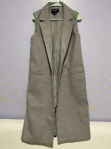 light gray the fifth 5th long line sleeveless blazer vest size small
