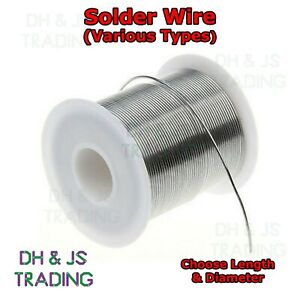 Solder Wire - All Types - Fluxed Core - Hobbyists Electronics Plumbing Soldering