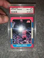 1986 Fleer Basketball Michael Jordan ROOKIE RC #57 PSA 8 (oc) NM-MINT 8