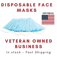 50 PCS Face Mask Disposable 3-Ply Earloop Mouth Cover - FDA Registered- IN STOCK