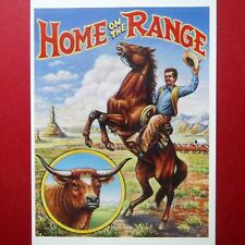 "POSTCARDS,  ""HOME on the RANGE"" UNUSED U.S. Stamp and Postcard, NEW Condition"