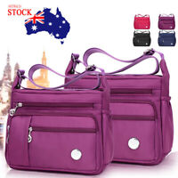 Women's Waterproof Nylon Shoulder Bag Girls Messenger Crossbody Travel Handbag