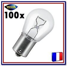 """100 Ampoules Vega® """"Maxi"""" P21W BA15S 12498 Position Arrière Stop Recul Frein 12V"""