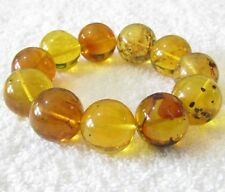 Dominican Amber Bracelet Authentic Beads 20.66 mm  gem stone ball (51.8 g)#761