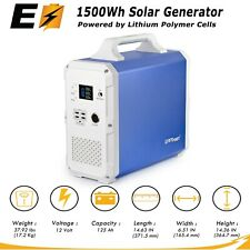 1500Wh Solar Generator For Emergency Power And RV Camping (No Gas, No Fumes)