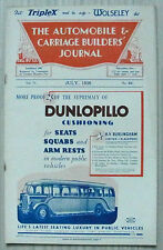 The AUTOMOBILE & CARRIAGE BUILDERS JOURNAL Magazine July 1936 Vol 77 No 458