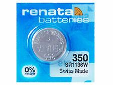 Renata 350 Pila Batteria Orologio Mercury Free Silver Oxide SR1136SW Swiss 1.55V