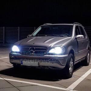 Mercedes ML W163 1998-2005 2x BULBS LOW BEAM HEADLIGHT H7 LED 6000K WHITE CANBUS