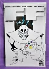 Jonathan Hickman FF #1 Thanos Signed Remarked by Chris Campana (Marvel, 2011)!
