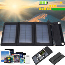 Sun Solar Battery Panel External Charger Power Bank Camping For Phone Tablets