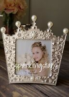 Crown Picture Frame Nursery Decor  4x4 Picture Frame Wedding Gift