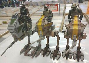 3 AT-RT LOT Figures Star Wars Clone Trooper Hasbro vehicle ARF Army Builder Jedi