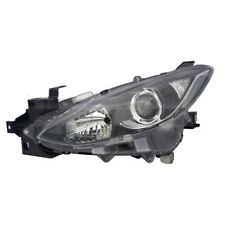 Mazda 3 2013-2016 Black Headlight Headlamp Passenger Side Left