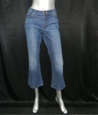 LEVI'S 545 Dark Blue Slightly Distressed Low Rise Bootcut Jeans sz 12S/12 Short