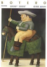 La Corrida von Fernando Botero Kunstdruck 1988 Poster Mann auf Pferd 27.5x39