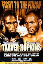 Original Vintage Bernard Hopkins vs. Antonio Tarver  Boxing Fight Poster
