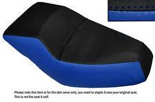 BLACK & ROYAL BLUE CUSTOM FITS HONDA HELIX CN 250 DUAL LEATHER SEAT COVER