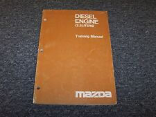 Mazda 2.2 Liter Diesel Engine Owner Operator Manual & Instructor Book 2.2L