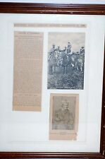 GERONIMO NOVEMBER 29, 1903 NEWS PAPER ARTICAL, IT IS ABOUT HIM TURNIG A CHURCHMA