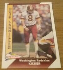Chip Lohmiller (Redskins) 1991 PACIFIC NFL Trading Card # 526