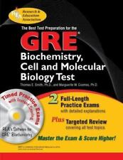 GRE Biochemistry,  Cell and Molecular Biology w/CD-ROM - The Best Test Prep (GR